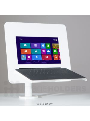 Expo 10 Counter Mounted Tablet/iPad Enclosure with Swivel and Keyboard Support