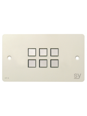 SY Electronics 6-BUTTON KEYPAD CONTROLLER UK WHITE