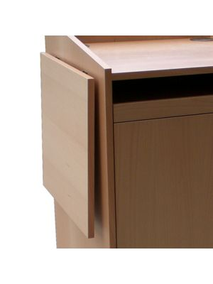 Wood Lecterns / AV Cabinets - Drop Down Shelf