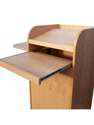 Wood Lecterns - Pull out Keyboard Shelf