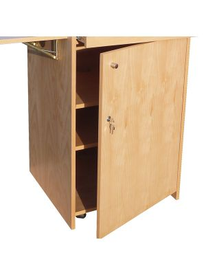 Wood Lecterns -  Single Lockable Door