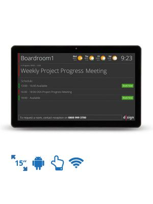 dsign Events - Room Info Screen - 15 Inch (Android)