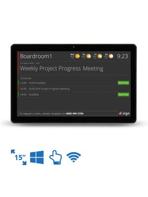 dsign Events - Room Info Screen - 15 Inch (Windows i2 Intel Celeron)
