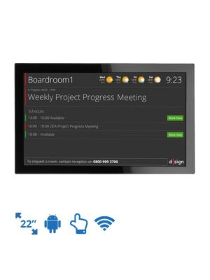 dsign Events - Room Info Screen - 22 Inch (Android)