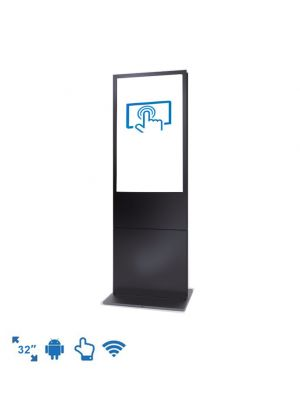 dsign-in Visitor Management System Bundle - 32 Inch Reception Totem Touchscreen (Windows)