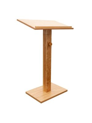 Presentation Lectern 11 wood veneer (Adjustable)  W-600mm x D-400mm x H-1100mm to 1400mm