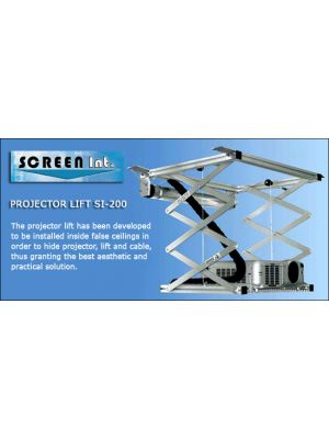 Screen International SI-200 Projector Ceiling Lift  2.0M drop, 15kg Maximum load.