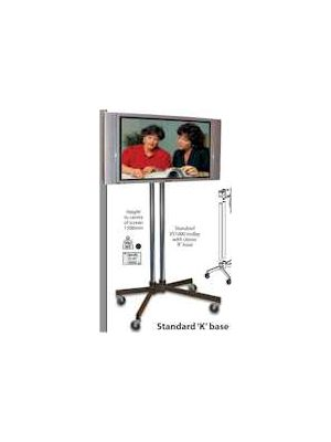 Unicol Standard 'K' Base Trolley VSB-1500x2-PS2-PZX3 for screens up to 70