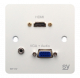 SY Electronics HDMI AND VGA INPUT PLATE UK WHITE